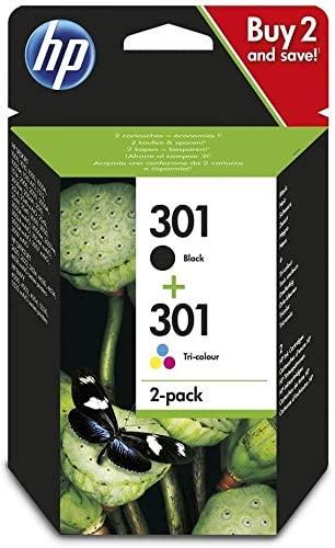 hp 301 black + tri-colour